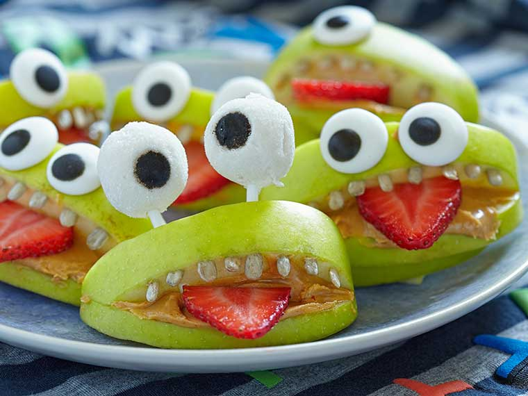 gezonde traktaties fruit appel monster min